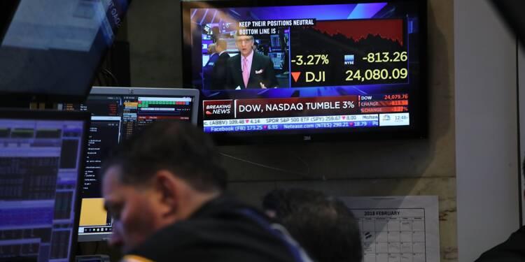 Wall Street, moins fébrile, termine en nette hausse