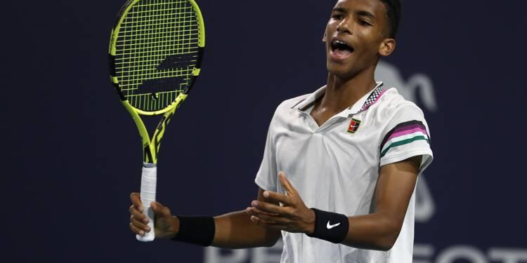 Tennis: le surdoué Auger-Aliassime renverse tout sur son passage à Miami