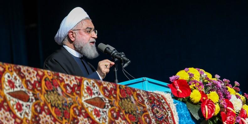 Sanctions: l'Iran peut bloquer les exportations de pétrole du Golfe, menace Rohani
