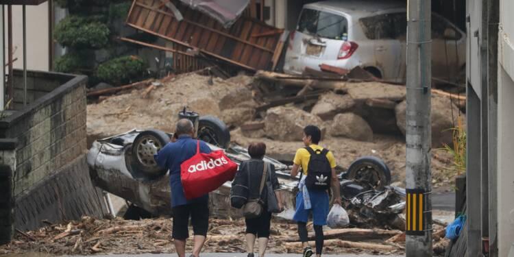 Pluies au Japon: au moins 100 morts, difficiles opérations de secours
