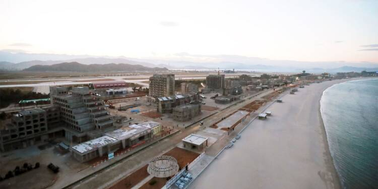 En Corée du Nord, un gigantesque complexe balnéaire en passe d'être achevé