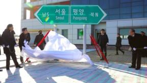 Cérémonie symbolique pour connecter les deux Corées par le rail et la route