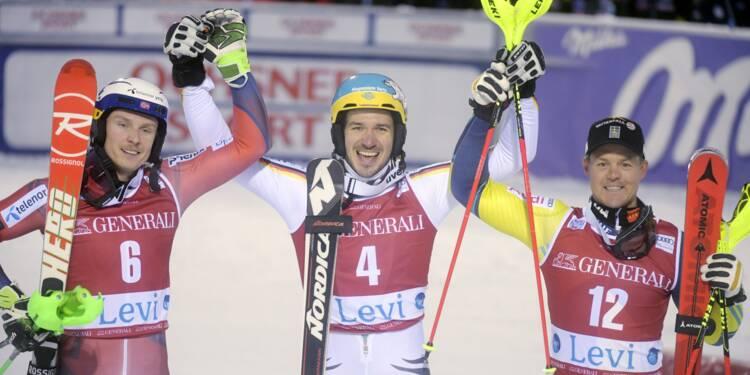 Ski: bonheur pour Neureuther au slalom de Levi, les Français prennent date