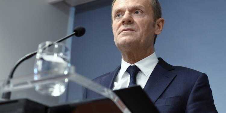"""Taxes américaines: la réponse de l'UE restera """"raisonnable"""", selon Tusk"""