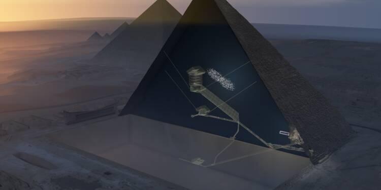 Une énorme cavité découverte au coeur de la pyramide de Khéops