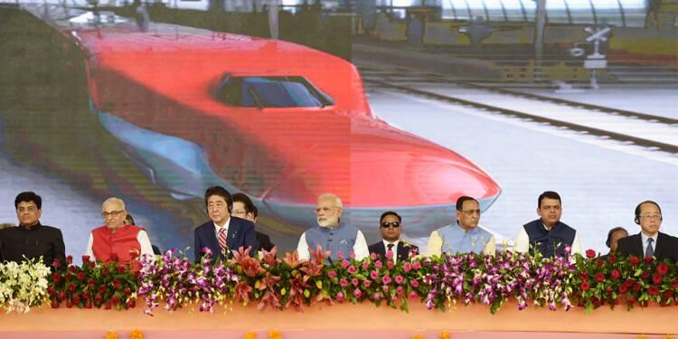 Coup d'envoi du premier train à grande vitesse en Inde