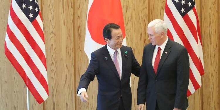 Libre-Echange: discussions économiques entre Etats-Unis et Japon