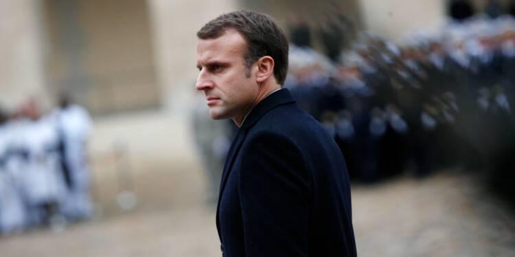 """La guerre contre l'EI en Syrie """"gagnée d'ici mi, fin février"""", promet Macron"""