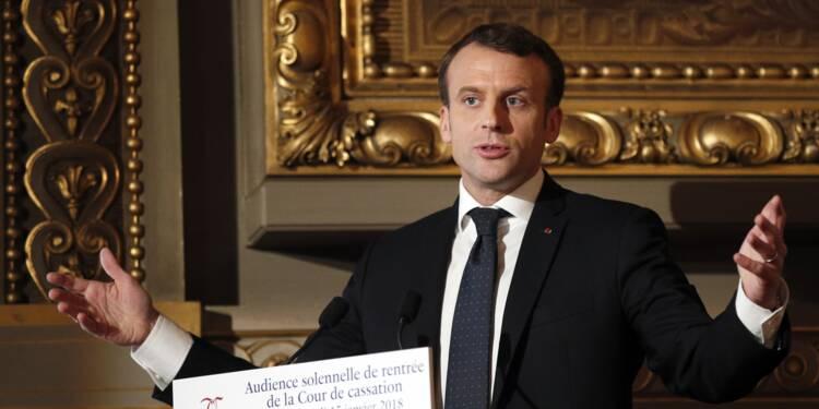 Macron et Belloubet donnent les grandes lignes des réformes de la justice