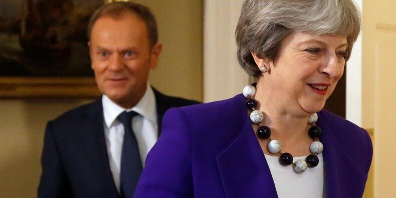 Rencontre Tusk/May à Londres avant un discours attendu de May sur le Brexit