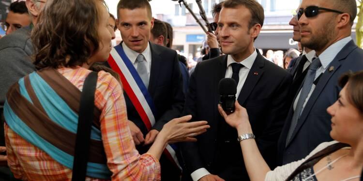 """Dans les Vosges, Macron ne se """"calfeutre"""" pas face aux mécontents"""