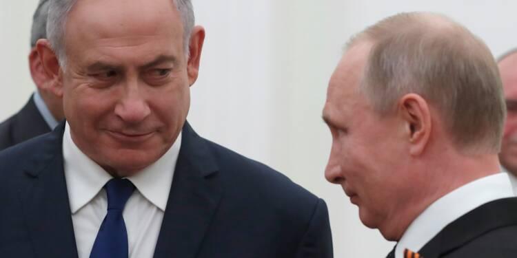 """Poutine veut """"chercher des solutions"""" au Moyen-Orient avec Netanyahu"""