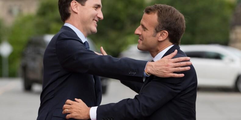 """Macron et Trudeau pour """"un multilatéralisme fort"""" avant un G7 """"difficile"""""""
