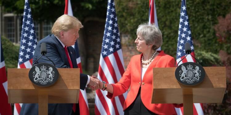 """Trump vante la relation """"spéciale"""" avec Londres après la polémique Brexit"""
