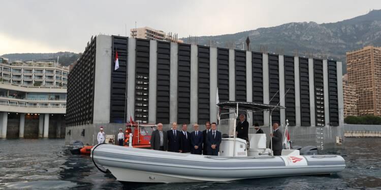 """À Monaco, le prince Albert inaugure le premier """"caisson"""" d'urbanisation en mer"""