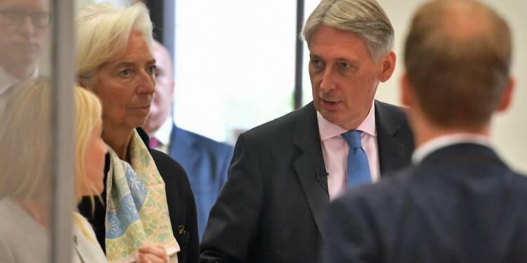 """Un Brexit sans accord """"entraînerait des coûts importants"""" pour l'économie britannique, selon le FMI"""