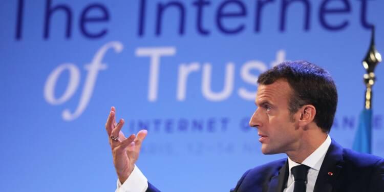 Macron plaide pour une régulation partagée de l'internet