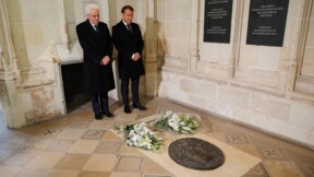 Pour célébrer Léonard de Vinci, Macron et Mattarella à Amboise, ville morte