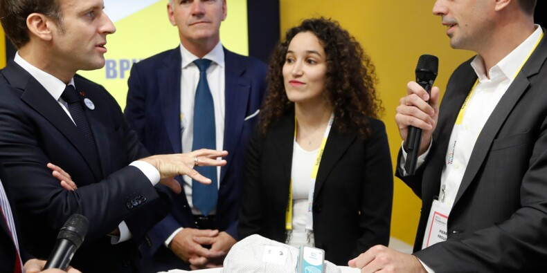 Macron à l'ouverture du salon international des start-up VivaTech à Paris