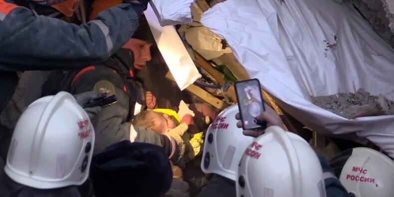 Explosion en Russie : les secouristes ont retrouvé un bébé vivant