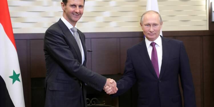 Poutine rencontre Assad à la veille d'un sommet Russie-Iran-Turquie sur la Syrie