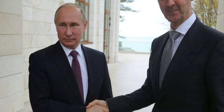 """Poutine """"félicite"""" Assad pour ses résultats dans la lutte contre le terrorisme"""