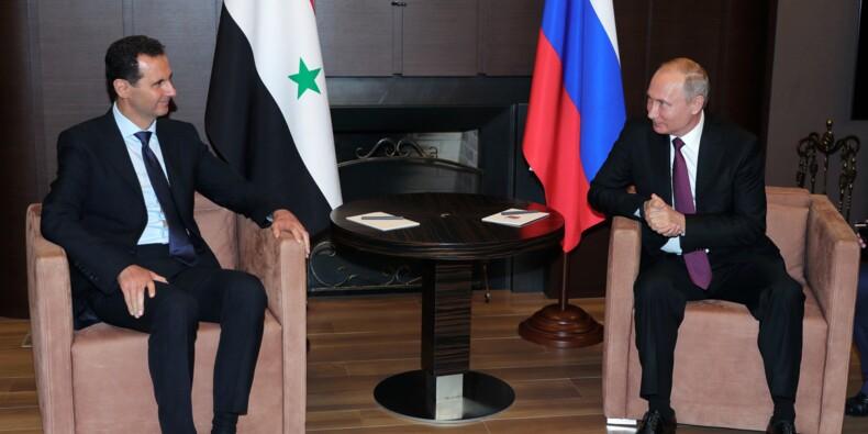 """Poutine et Assad plaident pour la reprise du """"dialogue politique"""" en Syrie"""