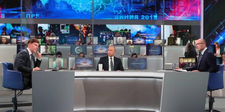 """Poutine vante une Russie qui """"avance dans la bonne direction"""" à une semaine du Mondial-2018"""