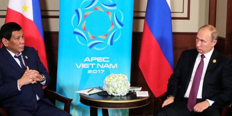 Philippines: Duterte remercie Poutine pour la livraison d'armes russes