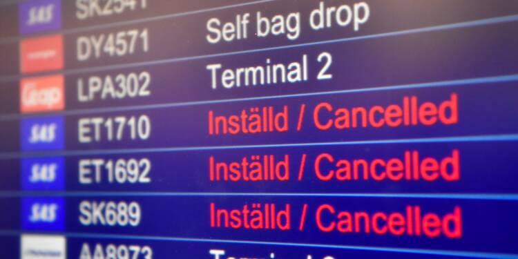 Grève chez SAS: plus de 1.200 vols annulés, 110.000 passagers immobilisés