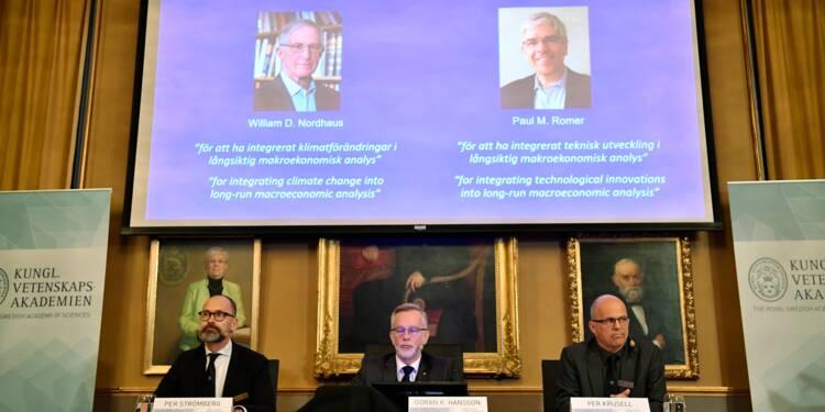 Le 50e prix Nobel d'économie à deux Américains précurseurs de la croissance verte