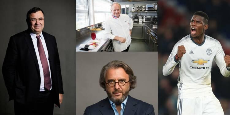 Pogba, Kendji Girac, Robuchon... qui sont les Français les mieux payés ?