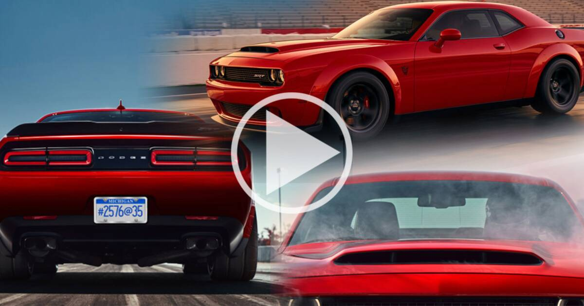 les premi res images de la dodge challenger srt demon la berline la plus puissante du monde. Black Bedroom Furniture Sets. Home Design Ideas