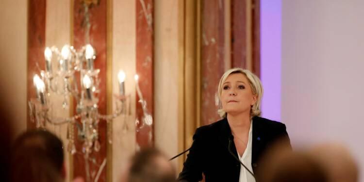 Le Pen (24%) devance Macron (23%) et Fillon (20%), selon un sondage Opinionway