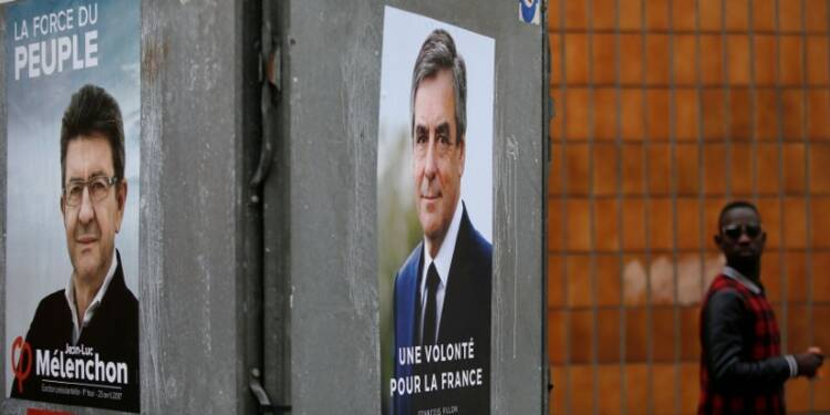Mélenchon (19%) devance Fillon (18,5%) au 1er tour, selon un sondage Ifop-Fiducial