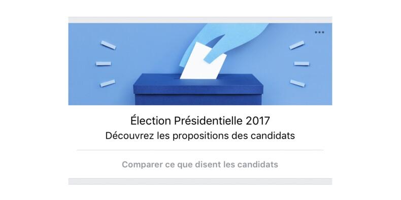 Facebook compare les programmes des candidats (qui jouent le jeu)
