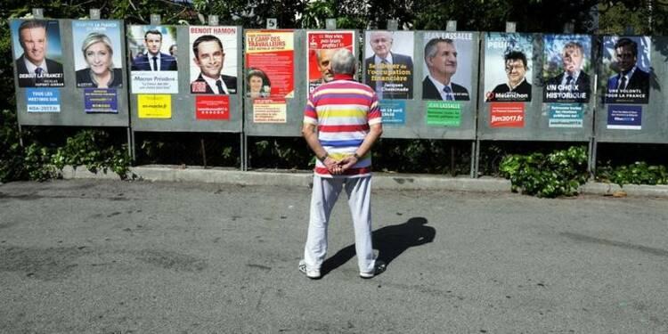 Le Pen, Macron, Fillon et Mélenchon, 4 candidats au coude-à-coude