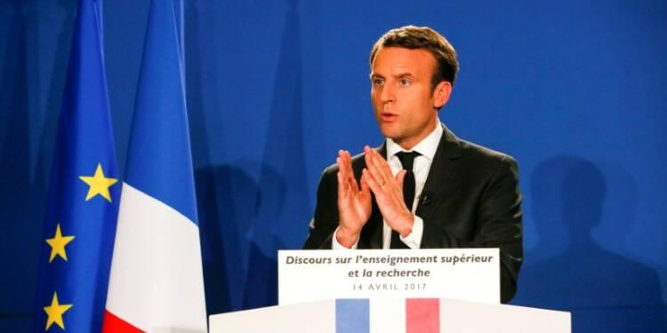Macron en tête au premier tour, selon Elabe
