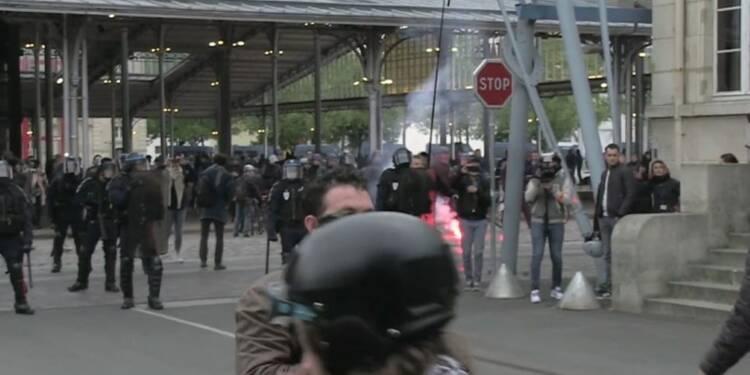 Heurts à proximité du meeting de Marine Le Pen à Paris