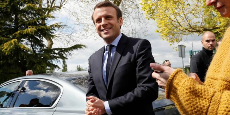 COR-Macron toujours en tête, devant Le Pen, Fillon et Mélenchon, selon un sondage Opinionway