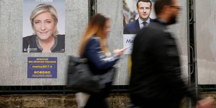 Macron et Le Pen toujours en tête, Fillon rattrapé par Mélenchon