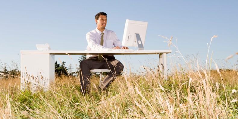 Start-up : et si le vrai avantage était de pouvoir travailler au vert ?