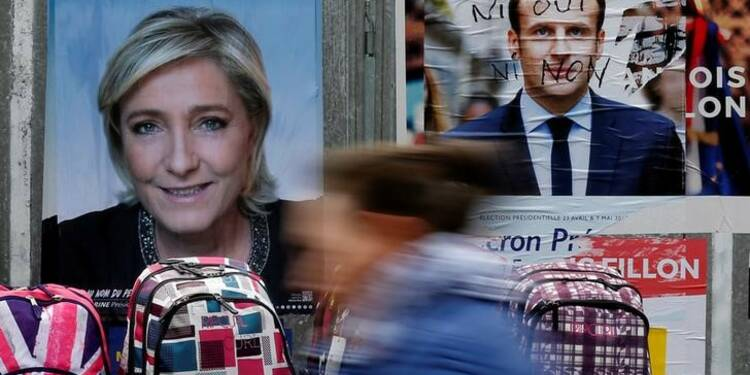 Le Pen fourbit ses arguments contre Macron