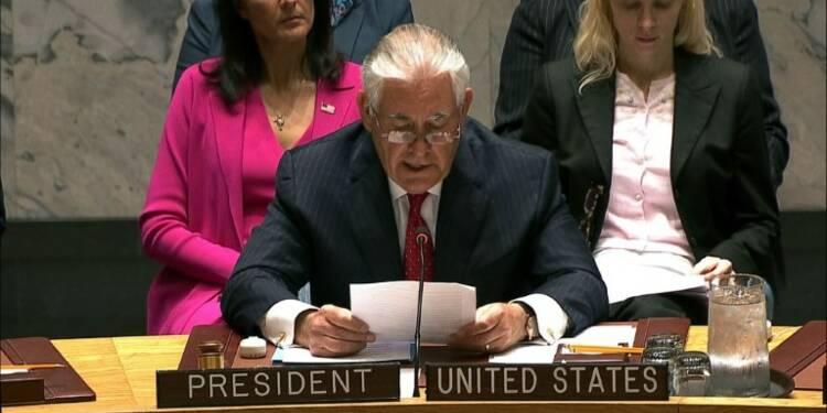 A l'Onu, Tillerson avertit la Corée du Nord