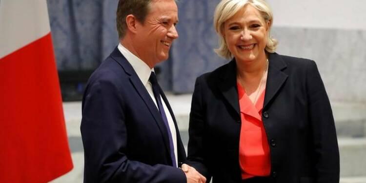 """La droite déplore une """"trahison"""" de Dupont-Aignan"""