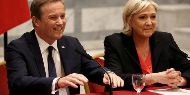 Dupont-Aignan serait le premier ministre de Marine Le Pen, la Droite dénonce une trahison