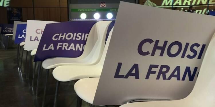Présidentielle: meeting de Marine Le Pen à Villepinte