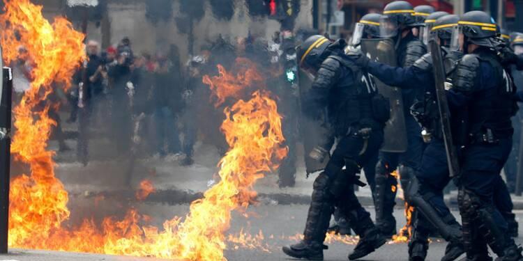 Heurts en marge du défilé du 1er-Mai à Paris, 6 policiers blessés