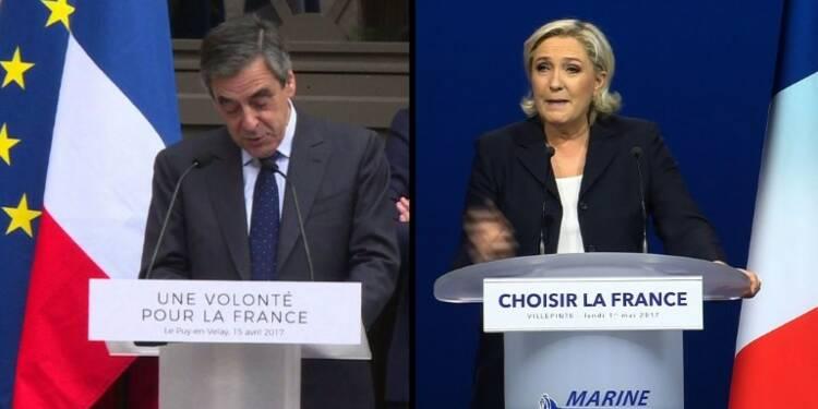 Présidentielle: Le Pen plagie un récent discours de Fillon
