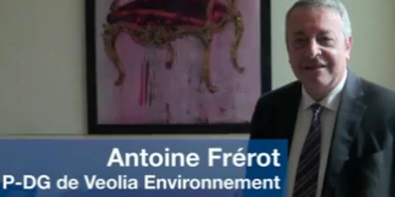 Dans le bureau d'Antoine Frérot, P-DG de Veolia Environnement